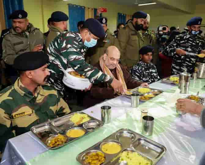 Amit Shah Spends A Day In CRPF Camp In Memory Of Pulwama Attack